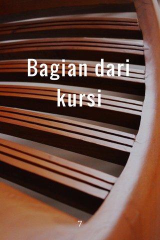 Bagian dari kursi 7