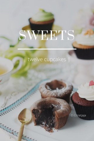 SWEETS | twelve cupcakes |