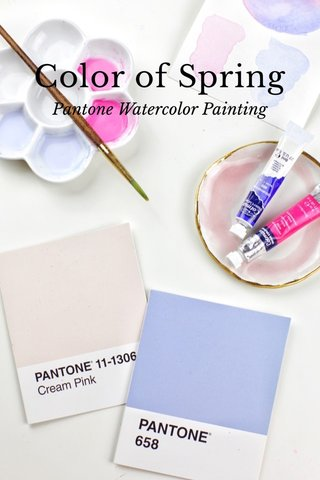 Color of Spring Pantone Watercolor Painting