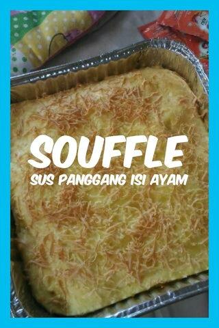Souffle Sus panggang isi ayam