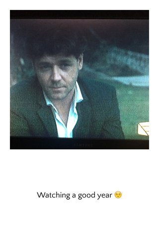 Watching a good year 😌
