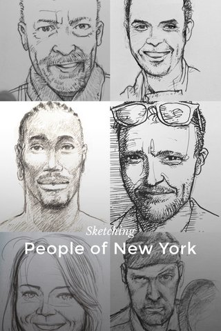 People of New York Sketching