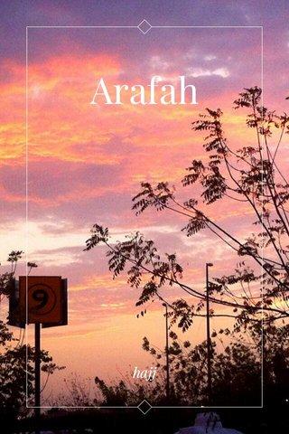 Arafah hajj