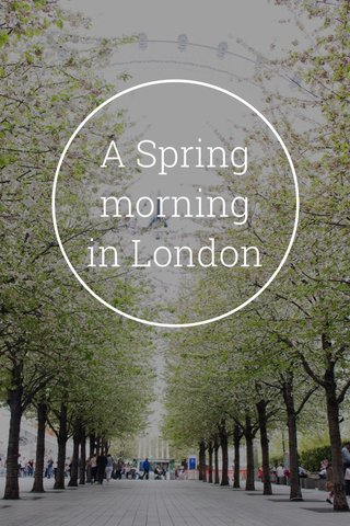A Spring morning in London