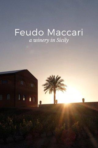 Feudo Maccari a winery in Sicily