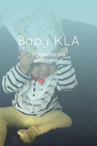 Baby KLA 11 months old photoshoot