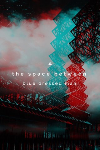 the space between blue dressed man