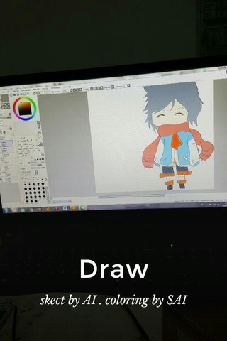 Draw skect by AI . coloring by SAI