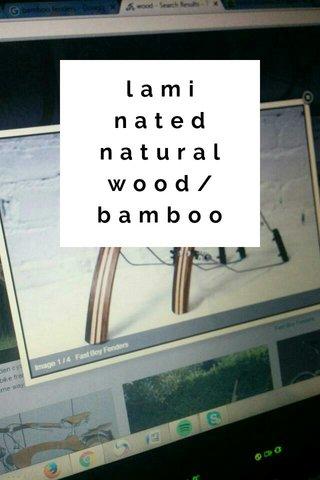 laminated natural wood/bamboo