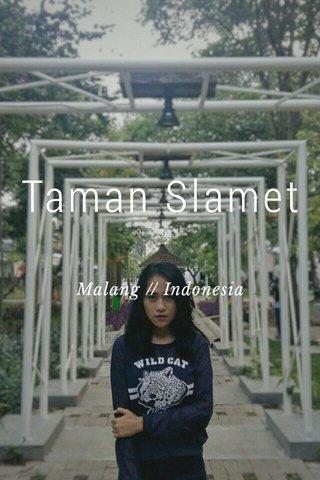Taman Slamet Malang // Indonesia