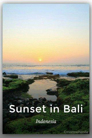 Sunset in Bali Indonesia