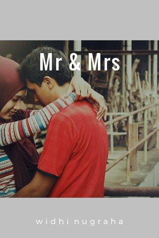 Mr & Mrs widhi nugraha