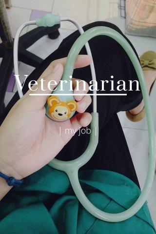 Veterinarian | my job |