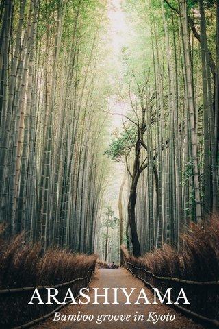 ARASHIYAMA Bamboo groove in Kyoto