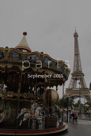 paris September 2015