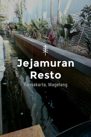 Jejamuran Resto Yogyakarta, Magelang