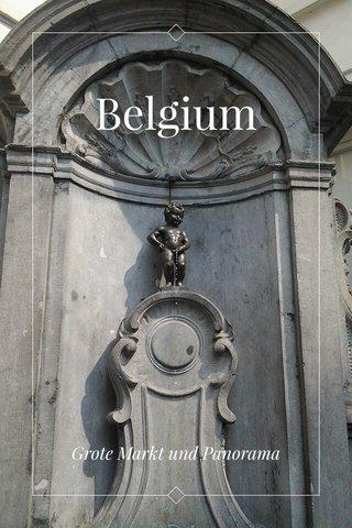 Belgium Grote Markt und Panorama