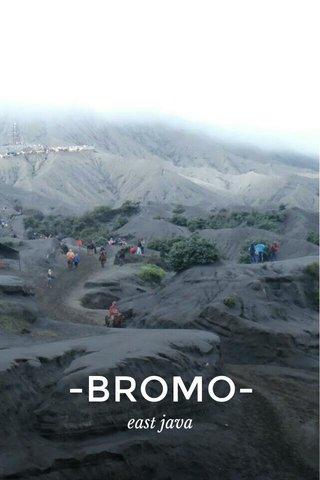 -BROMO- east java