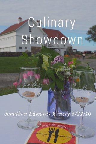 Culinary Showdown Jonathan Edwards Winery 5/22/16