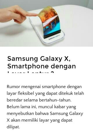 Samsung Galaxy X, Smartphone dengan Layar Lentur ?