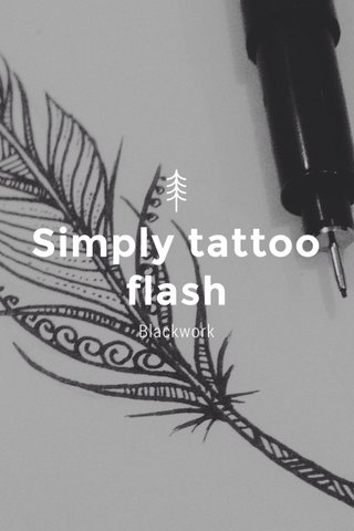 Simply tattoo flash Blackwork
