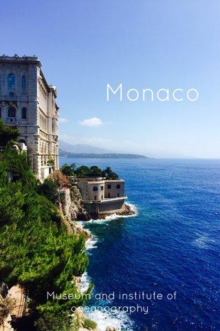 Monaco Museum and institute of oceanography