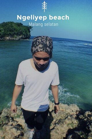Ngeliyep beach Malang selatan
