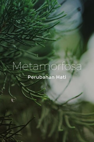 Metamorfosa Perubahan Hati
