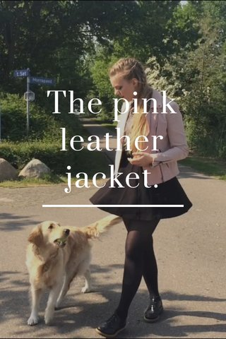 The pink leather jacket.