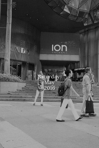 Saturday May 2016
