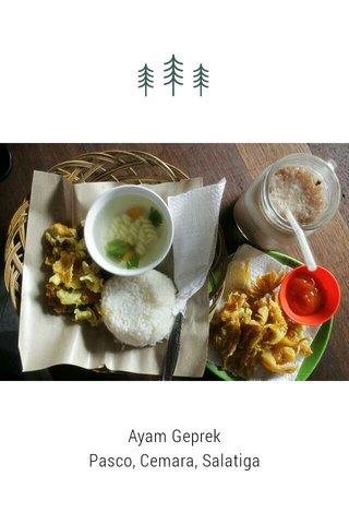 Ayam Geprek Pasco, Cemara, Salatiga