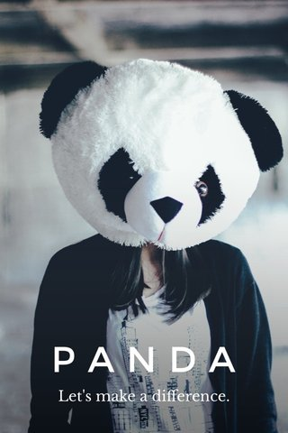 PANDA Let's make a difference.
