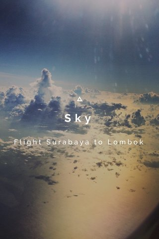 Sky Flight Surabaya to Lombok