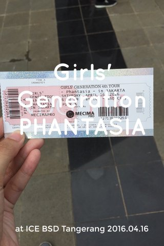 Girls' Generation PHANTASIA at ICE BSD Tangerang 2016.04.16