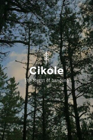 Cikole The forest of bandung