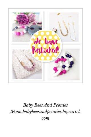 Baby Bees And Peonies Www.babybeesandpeonies.bigcartel.com