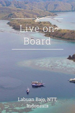 Live on Board Labuan Bajo, NTT, Indonesia