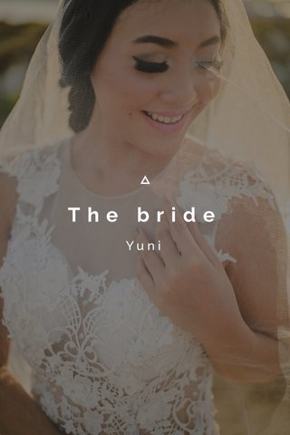 The bride Yuni