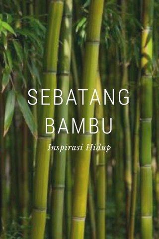SEBATANG BAMBU Inspirasi Hidup