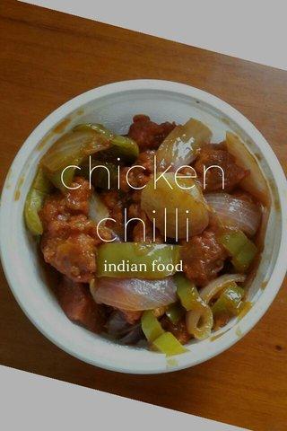 chicken chilli indian food