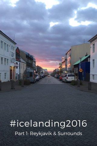 #icelanding2016 Part 1: Reykjavik & Surrounds