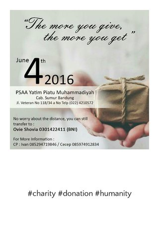#charity #donation #humanity