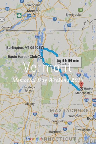 Vermont Memorial Day Weekend 2016