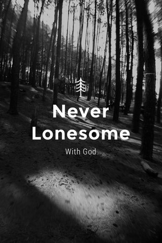 Never Lonesome With God