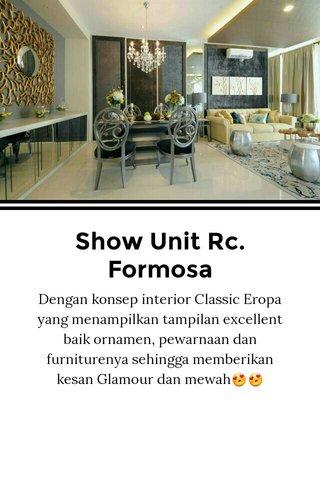 Show Unit Rc. Formosa