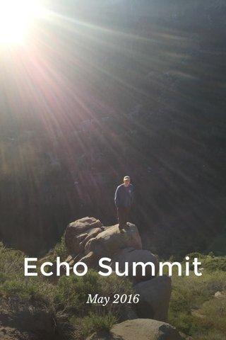 Echo Summit May 2016