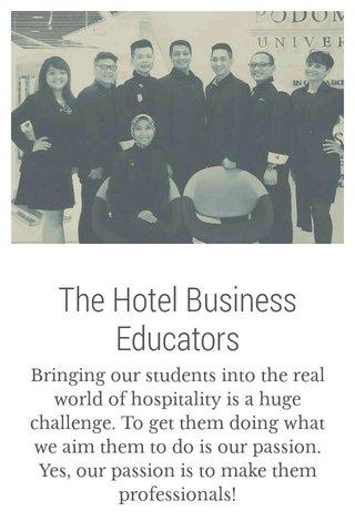 The Hotel Business Educators