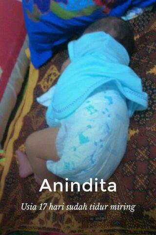 Anindita Usia 17 hari sudah tidur miring