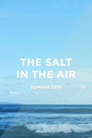 THE SALT IN THE AIR summer 2016