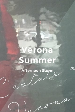 Verona Summer Afternoon Storm
